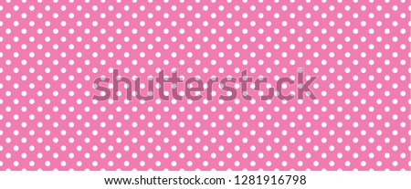 Pois dots. Memphis style rose, red polka dot jersey sign. Flat vector pattern. Seamless, geometric grid banner.  sign shape Raster texture. Coming soon girl, baby new born style Photo stock ©