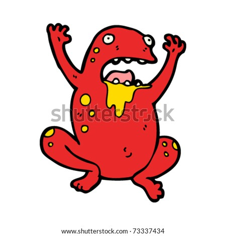 Poisonous Frog Cartoon Stock Vector 73337434 : Shutterstock