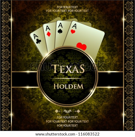 Poker aces. Vector background.
