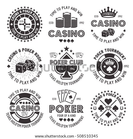 stock-vector-poker-and-casino-set-of-vector-black-gambling-emblems-labels-badges-or-logos-in-vintage-style