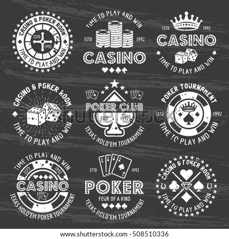 poker and casino set of vector...