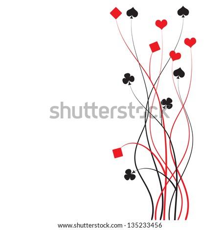 poker, bridge - card game - vector illustration