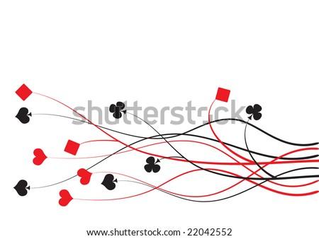 poker, bridge  vector illustration