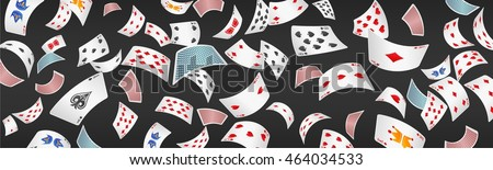 Poker card scattered banner