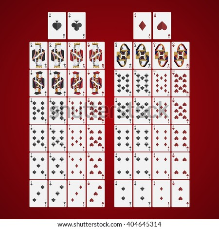 poker  cards full set four