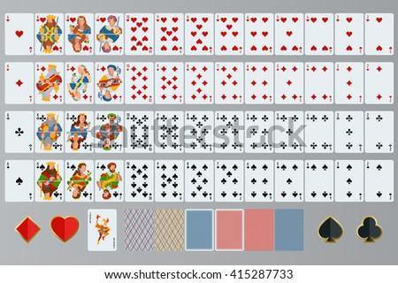 poker cards full set isolated