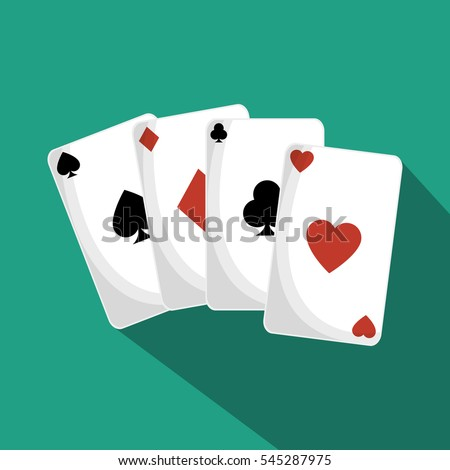 poker cards isolated icon