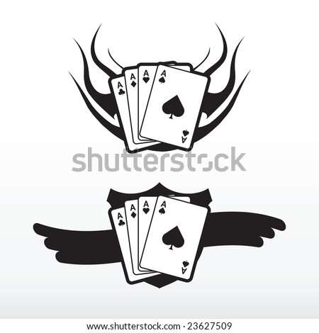 tattoo cards. Poker cards vector tattoo