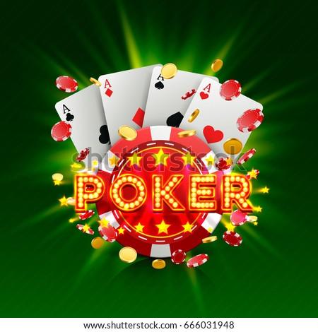poker casino banner signboard