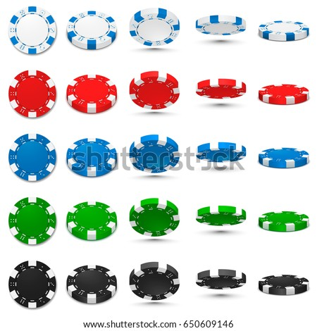 poker chips in different