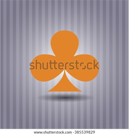 Poker clover vector icon or symbol