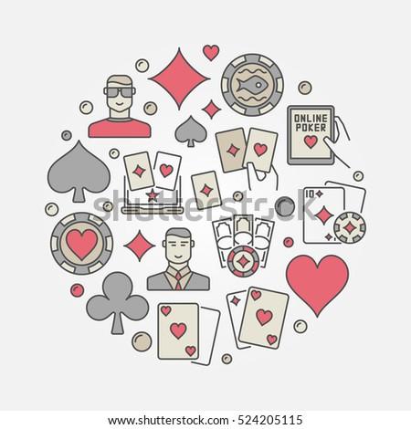 poker colorful circular