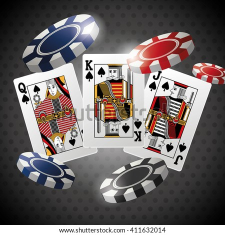 Poker design, cards and chips concept ,, casino games