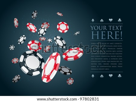poker gambling chips poster