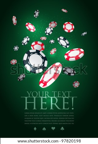 poker gambling chips poster