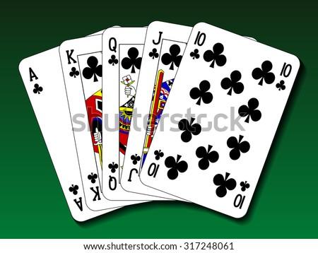 Poker hand - Royal flush club