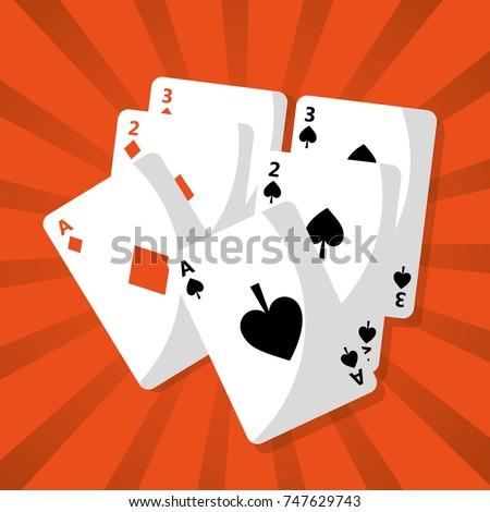 poker playing cards deck hazard chance