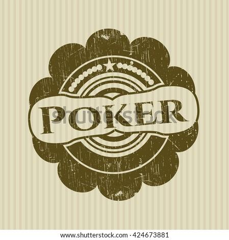Poker rubber grunge stamp