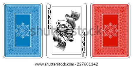 poker size joker playing card