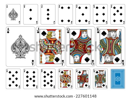 poker size spade playing cards