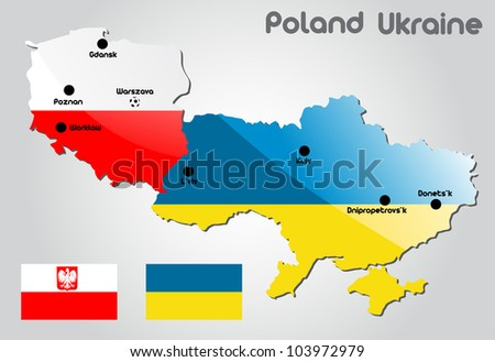 Poland and Ukraine map