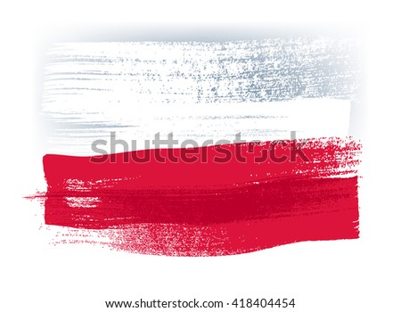 poland colorful brush strokes