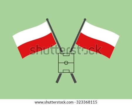 poland crossed flag emblem