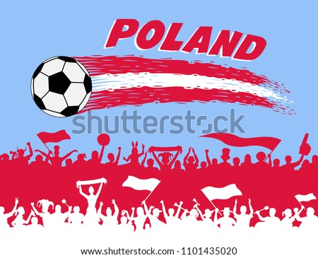 poland flag colors with soccer
