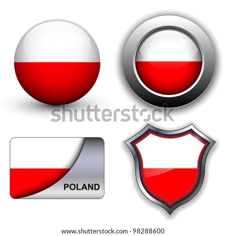 Poland flag icons theme.