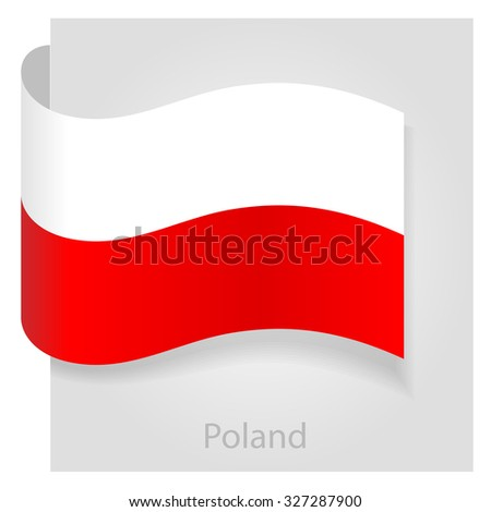poland flag  isolated vector
