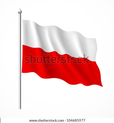poland flag  vector illustration