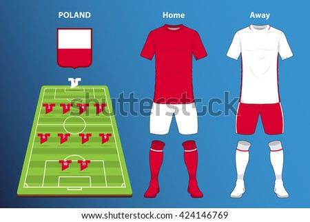 poland football kit or soccer