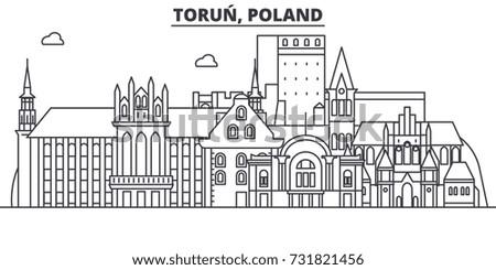poland  torun architecture line