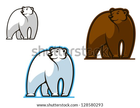 Polar and brown bear for mascot or another design. Jpeg version also available in gallery
