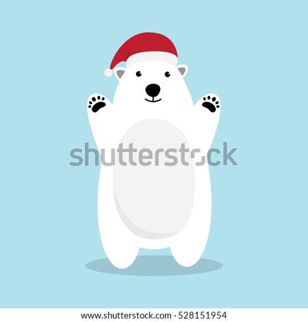 polar bear cartoon character a