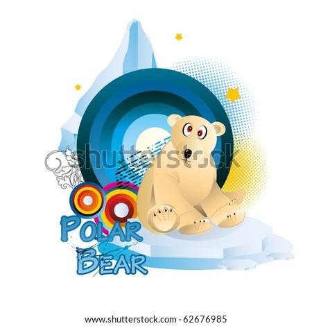 polar bear cartoon vector