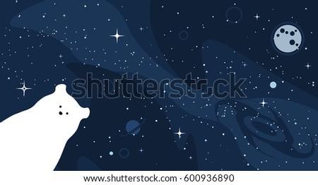 stock-vector-polar-bear-design-background-vector-flat-cute-template-simple-minimal-illustration-with-space