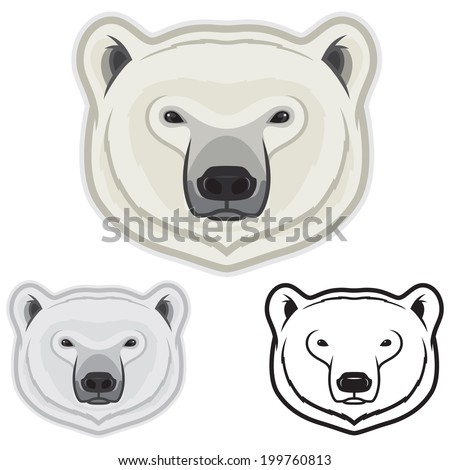 Polar Bear Faces Stock Vector Illustration 199760813 ...