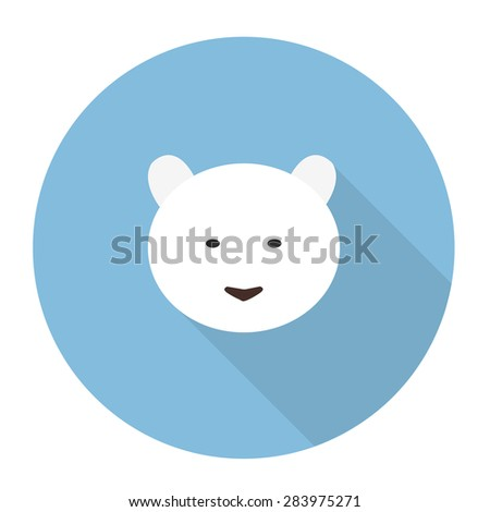 polar bear flat icon vector illustration
