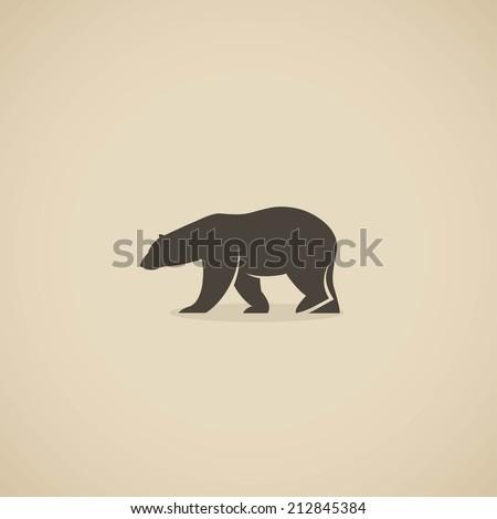 polar bear icon   vector