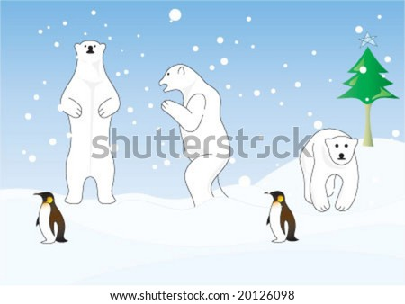 polar bear is walking on the
