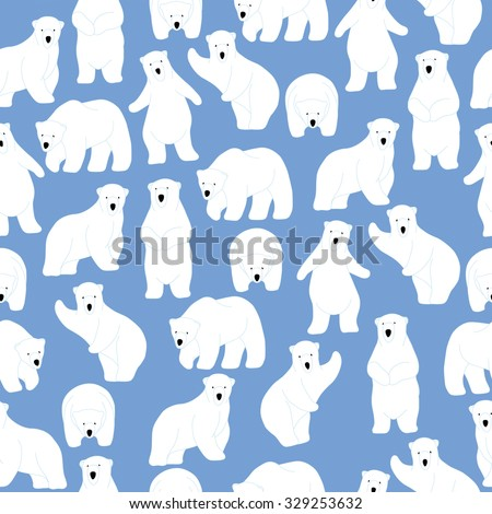 polar bear pattern seamless