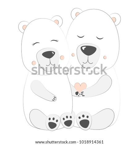 polar bear set vector