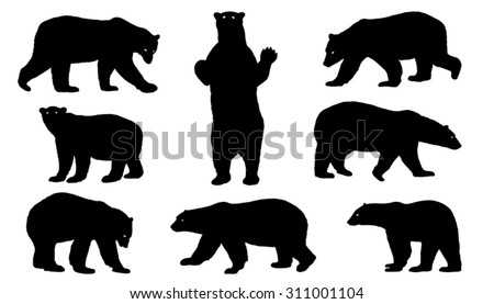 polar bear silhouettes on the