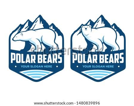polar bears logo  with two