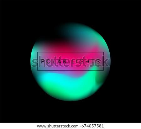 polar lights  aurora borealis