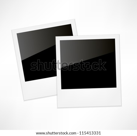Polaroid photo frame - stock vector