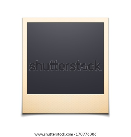 Polaroid photo frame isolated on white background Vector illustration