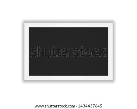Polaroid photo frame. Square frame template with shadows isolated on white background. Vector illustration