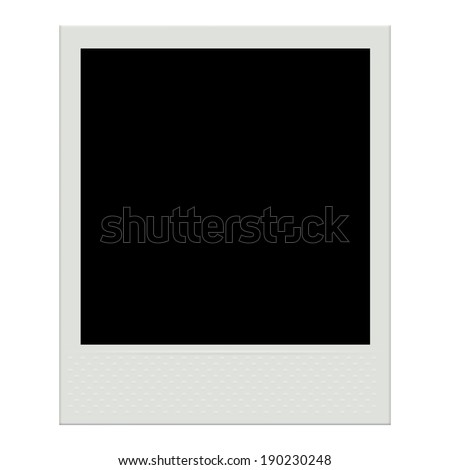 polaroid photo frame template isolated on white background instant film stock vector. Black Bedroom Furniture Sets. Home Design Ideas